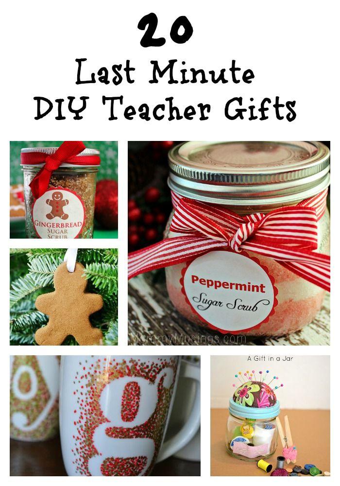 20 Last Minute Diy Teacher Gifts Diy Gifts Sugar