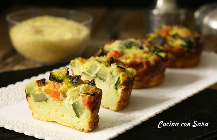 Tortino cous cous e verdure - ricetta vegetariana