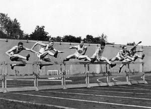VintageArte - USC Track and Field High Hurdles Poster : Posters and Framed Art Prints Available