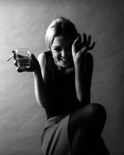 Edie Sedgwick. Photo Jerry Schatzberg, 1966.