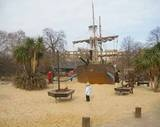 Princess Diana memorial Playground in Kensington Gardens (Hyde Park). Many happy memories made here with my kids while we lived in London. A great park for kids(it has a Peter Pan theme)--and you can only get in if you HAVE kids!