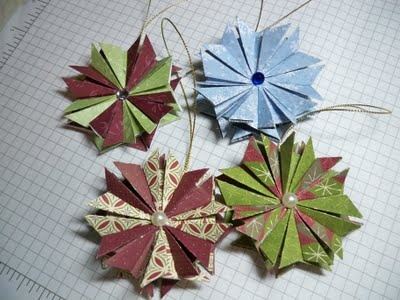 tea bag folding ornaments - this is my favorite craft! i've made a ton of these!