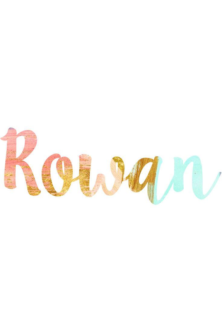 Rowan: Unisex Baby Names I Nameille.com
