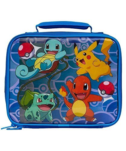 Get ready for adventure with this awesome #Pokemon #lunch box! This fun lunch bag contains an insulated inner compartment to keep your food warm or cold. With a z...