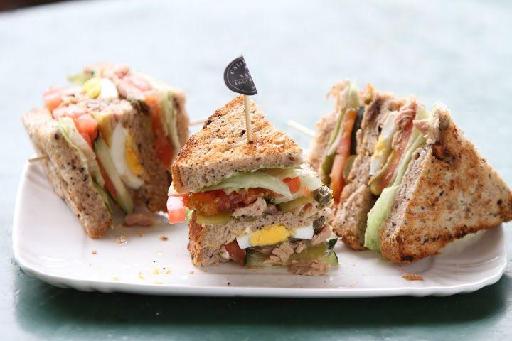 Tuna Club Sandwich by California Bakery