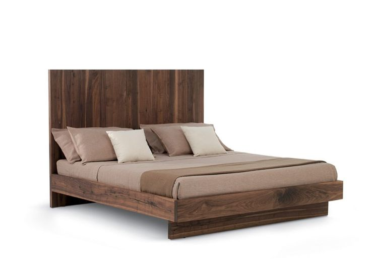 Download the catalogue and request prices of wooden double for Wooden bed designs catalogue