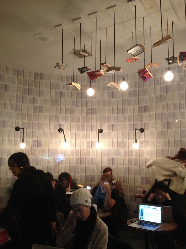 The Walls Are A Little Suffocatingm But That Lighting Bookstore Cafe