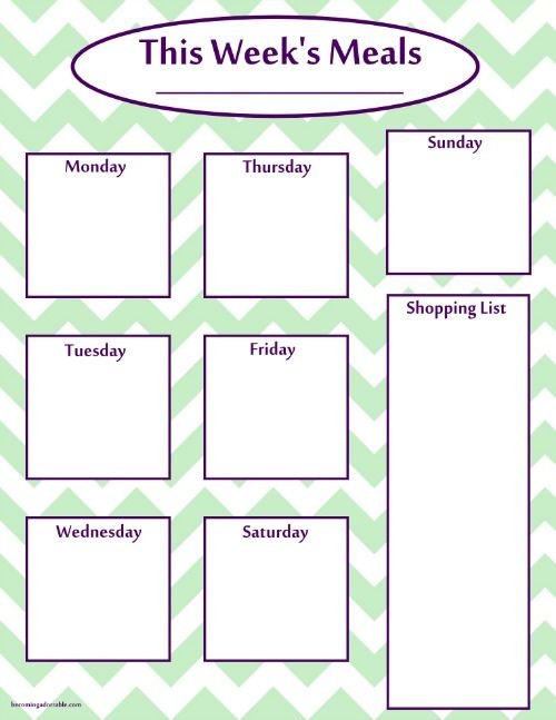 Best 25+ Meal planning printable ideas on Pinterest Free - meal planning template