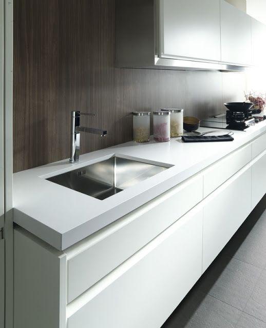 Bright kitchens with white finishing by gamadecor - Porcelanosa cocinas catalogo ...