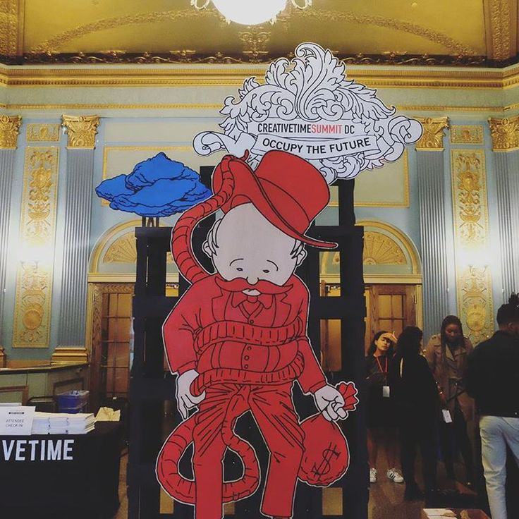 Good morning and welcome to this year's #CTSummit. We're at the Lincoln Theatre in DC, but if you can't be here with us, you can watch the Summit live at the link in our profile.  Thanks to #floatinglabcollective for this amazing artwork for the lobby. 📷 Thando Mlambo