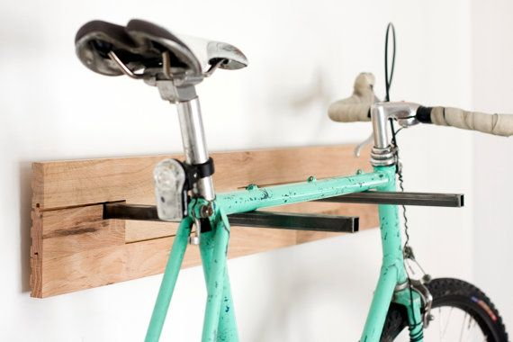 Bicycle wall mount great idea now let's make it cute