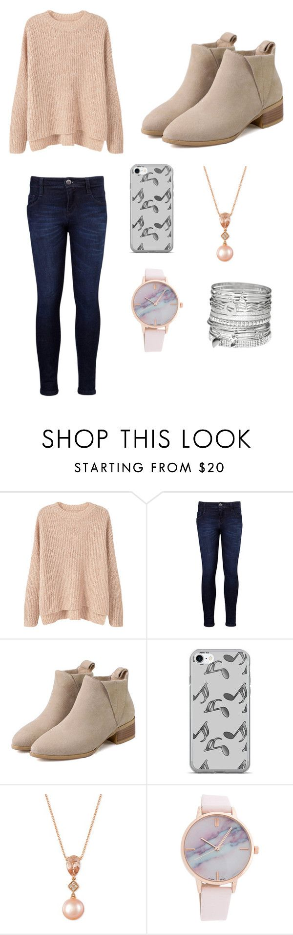 """""""Chic and stylish outfit for a school day that may be good or not. An everyday outfit."""" by sashalong ❤ liked on Polyvore featuring MANGO, Levi's, Music Notes, LE VIAN and Avenue"""