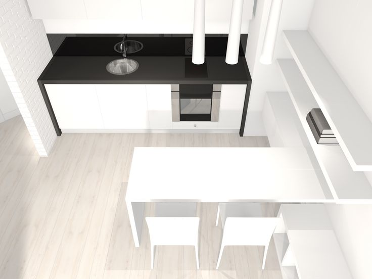 Kitchen design | 35m2 apartment