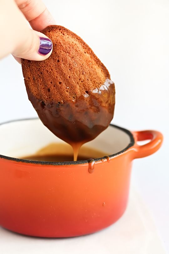 Sticky toffee madeleines with butterscotch sauce?? Yes please.