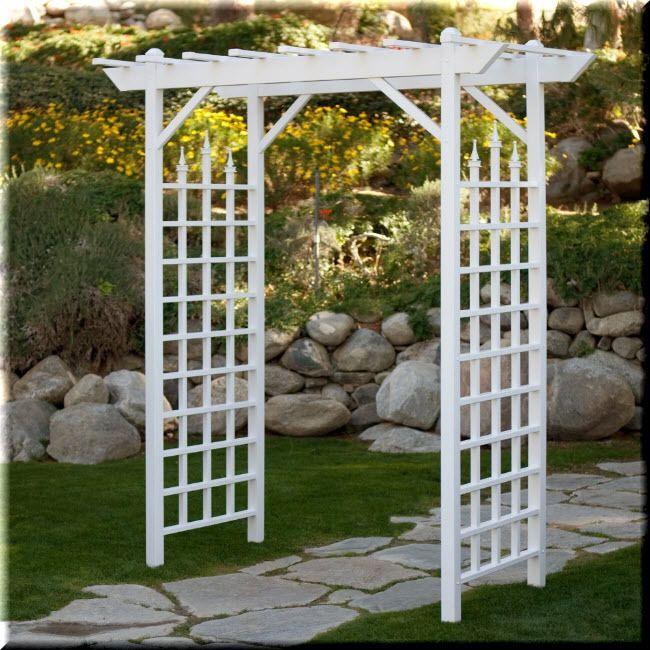 Garden Pergola Arbor 7 Ft Vinyl White Wedding Outdoor