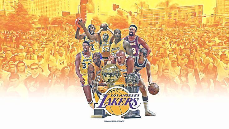 Los Angeles Lakers, wallpaper, design, sport, basketball, champion, create, art, illustration, NBA, Legends, champion, Kobe Brayant, Shaquille O'Neal, Magic Johnson, Kareem Abdul-Jabbar, Wilt Chamberlain, Jerry West, George Mikan, club
