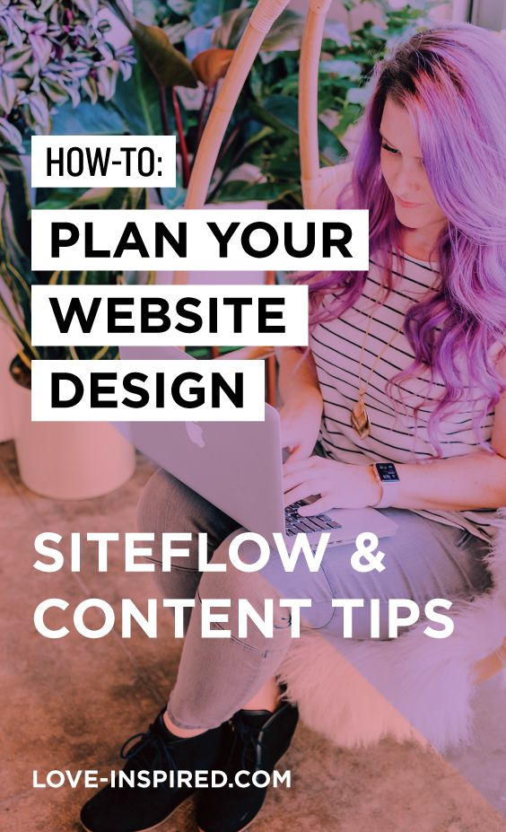 How to Plan Your Website Design: Siteflow & #Content Tips! // Love Inspired #webdesign