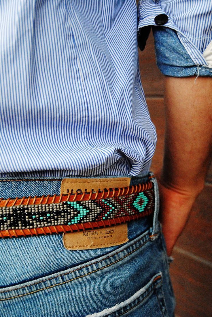 DIY instructions on how to make a unique, beaded native American belt with classic eagle motif. part II