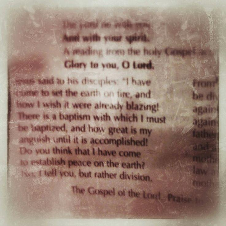 Gospel reading  luke 12:49-53