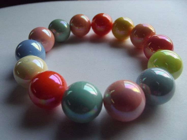 Acrylic Stretch Bracelets by Jewelryonthego