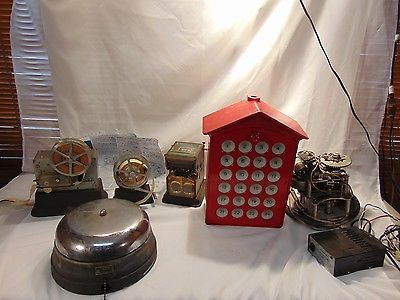 Antique Gamewell Fire Alarm System ticker tape cast iron box register