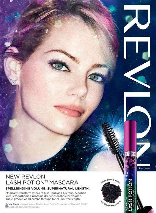 Emma Stone - Revlon Lash Potion Mascara #EmmaStone #Revlon