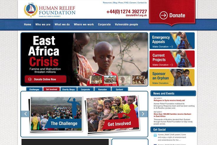 Human Relief Foundation - An International Non-Governmental Charity Organisation. http://www.hrf.org.uk #design #development