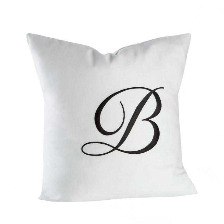 Balmuir decorative cushion cove, 40x40 white/black