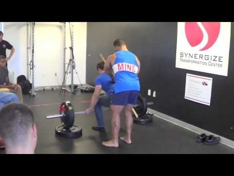 """Deadlifts Make The Man"" Part 1? [Yo Elliott Miami 2013] great display of deadlift correction for someone who has imbalances and one side is longer than the other.  atlas and neuromuscular therapy"