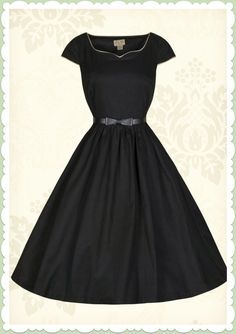 Lindy Bop 50er Jahre Vintage Rockabilly Petticoat Kleid - Tara - Schwarz