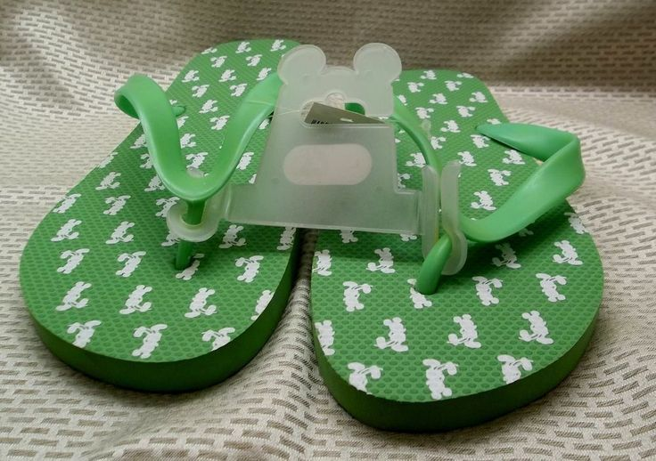 Walt Disney World Mickey Mouse Ladies Flip Flop Sandals Large Size New w/ Tags #Disney