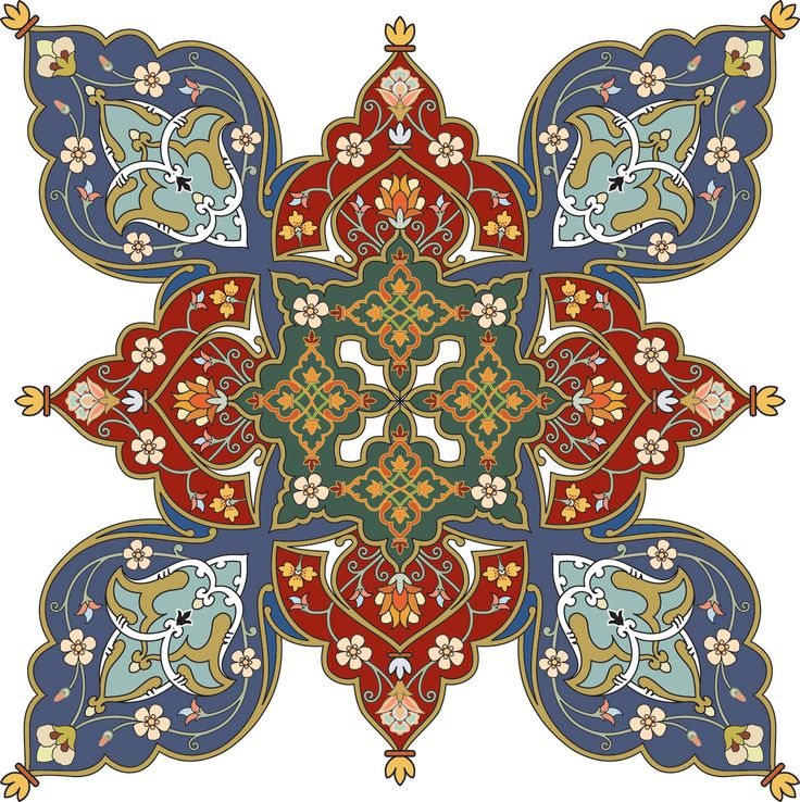 Persian pattern note the bright color and interesting design