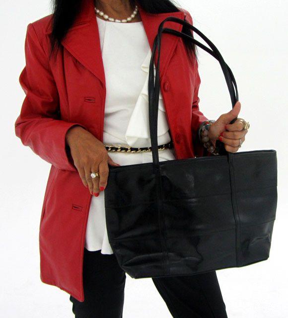 Gemstone Leather Like Black Shoulder Bag OP 39