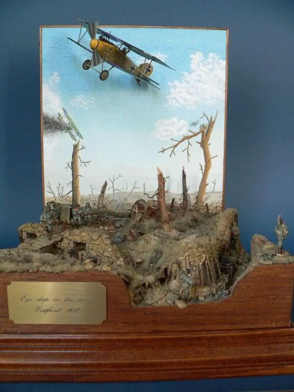 'Eye Deep in the Hell' 1/72nd scale diorama by by Michel Van den Berghe