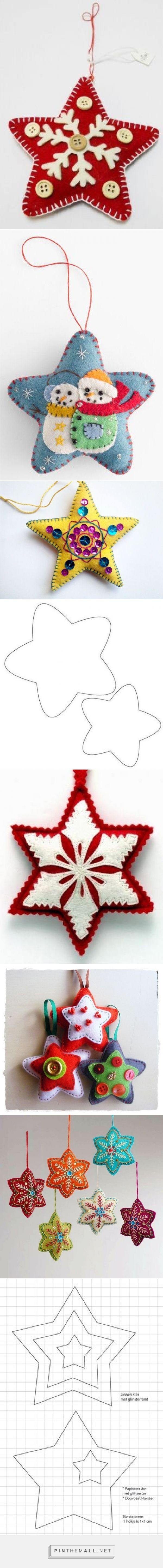 patrones navideños de estrellas en fieltro - created on 2015-11-18 22:56:52