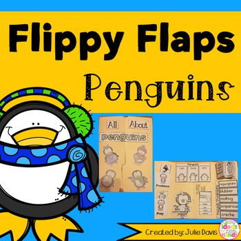 Penguin Flippy Flaps!  This is a great way to get your students learning about Penguins in a fun hands-on interactive way! Your students will be engaged and learn about Penguins in many different ways!  Activities included: - Penguins can/have/are - Label a Penguin - All About Penguins - Penguin KWL - Penguin Vocabulary - Penguin Facts - Life Cycle of a Penguin - Penguin Adjectives - Penguin Types - Penguin Predators/Prey - How do Penguins stay warm writing prompt - Favorite Penguin Book