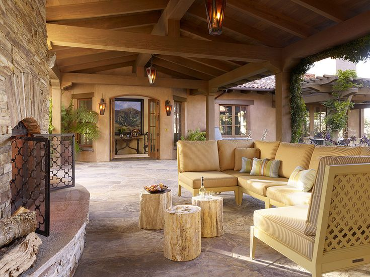 Fireplace screens patio southwestern decorating ideas with outdoor ...