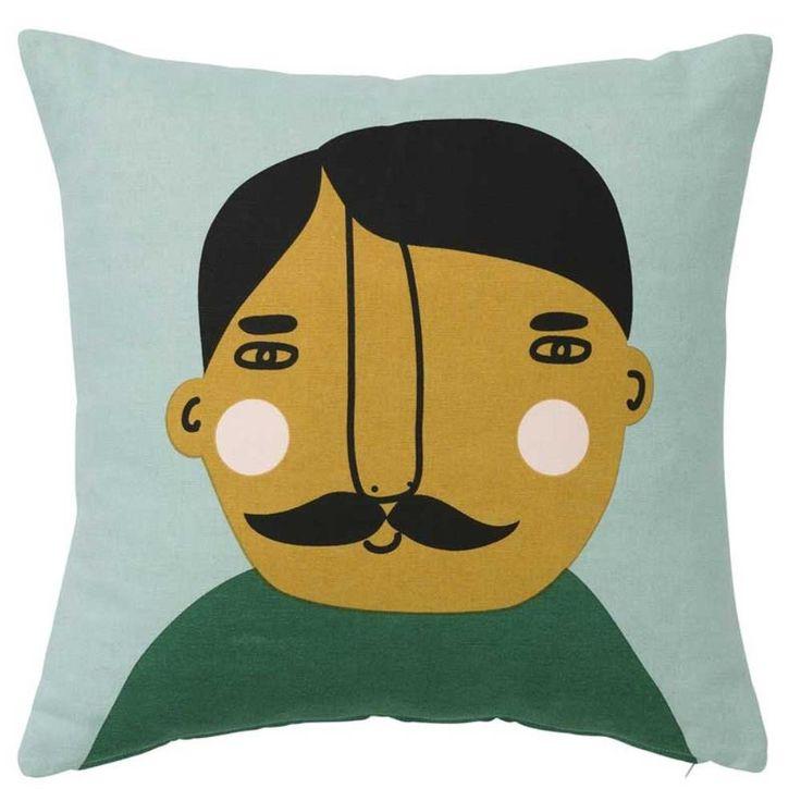 Lars face Cushion Cover 50cm