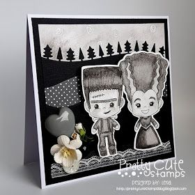 Lena pysslar: New release + freebie - with Pretty Cute Stamps