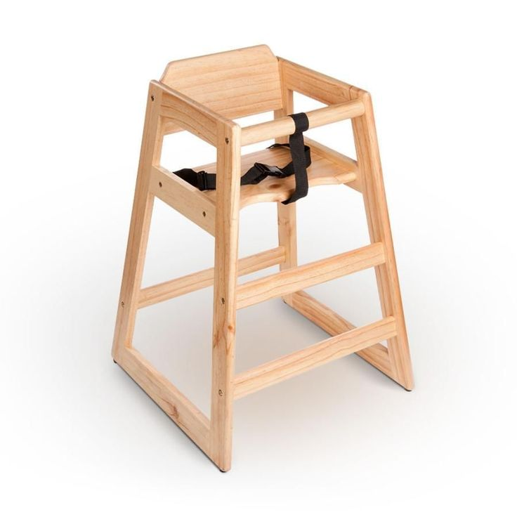 new restaurant style wooden high chair natural finish