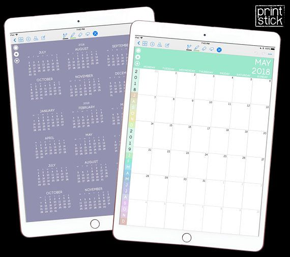 Dated Digital Planner Goodnotes Planner For Ipad Digital