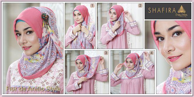 Hijab Tutorial, Flor de Anillo Style