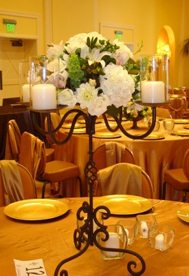 Flowers, Reception, Centerpiece, White, Green, Decor, Candles, Diy, Designers, Iron, San diego wholesale flowers
