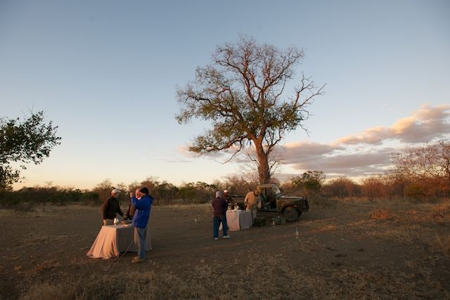 The beloved sundowners during photographic safaris in South Africa.