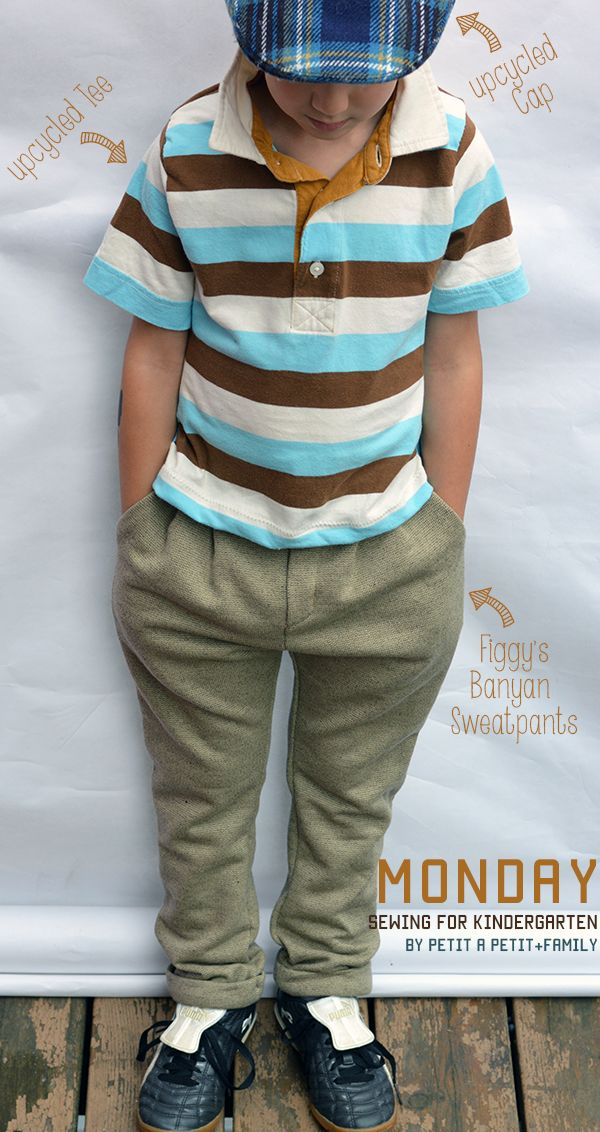 Sewing For Kindergarten- Monday to Friday handmade outfits for boys//  petitapetitandfamily.com