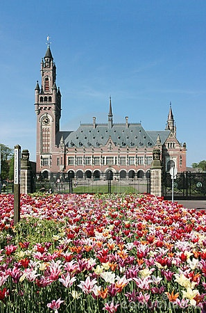 Peace Palace.  Houses the International Court of Justice and the Permanent Court of Arbitration, making it the principal judicial body of the United Nations.   The Hague, South Holland, THE NETHERLANDS.    (by Digikhmer, via Dreamstime)