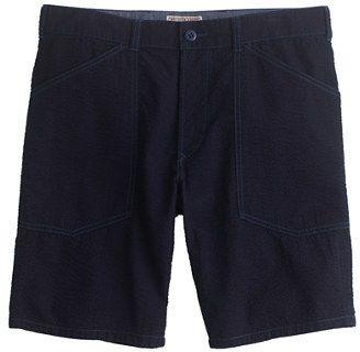 $69, J.Crew Wallace Barnes Surplus Short In Japanese Indigo Seersucker. Sold by J.Crew. Click for more info: https://lookastic.com/men/shop_items/223121/redirect