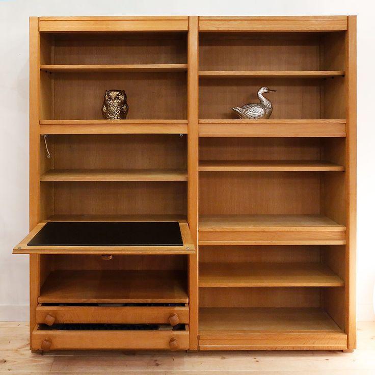 A Bureau Bookcase by Guillerme & Chambron 1960s Antiquités en France Caroline Beauzon