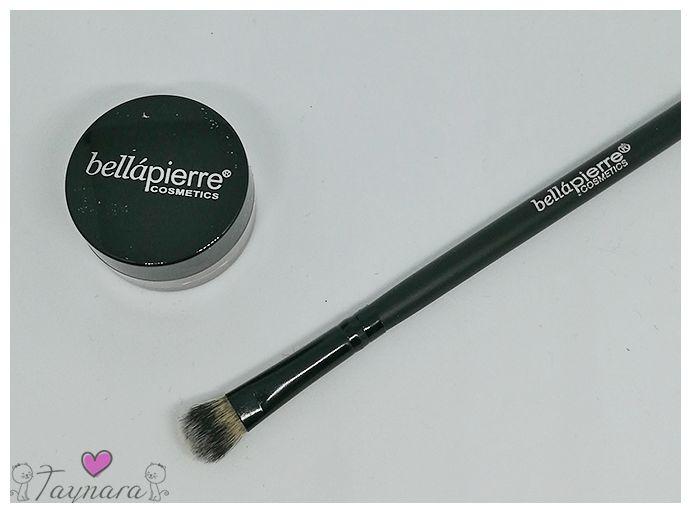 bellapierre Lidschattenpinsel und Lidschatten Shimmer Powder bronze