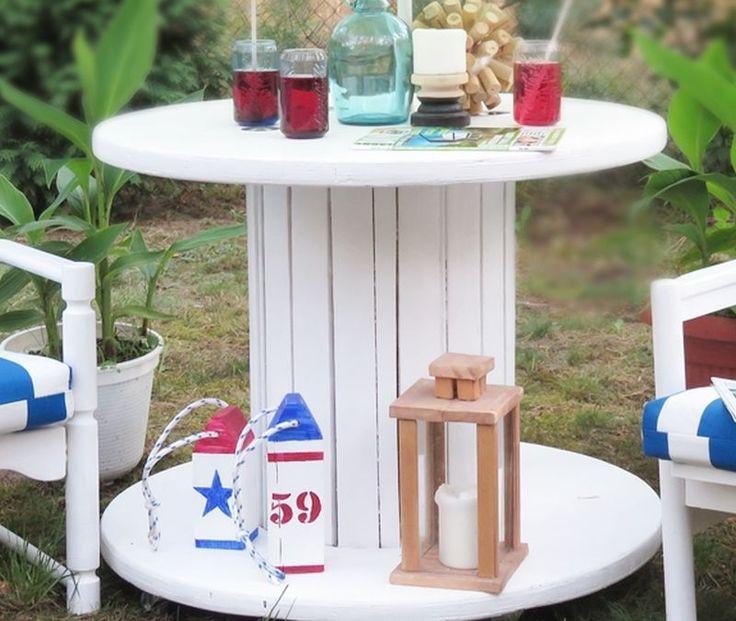<p>Lato już tuż-tuż, więc korzystaj z chwil wśród zieleni. Prezentujemy pomysł na stolik ogrodowy ze szpuli na kabel. Ten jakże przemysłowy przedmiot ma idealny kształt na mebel ogrodowy. Zobacz jak zrobić stolik ze szpuli krok po kroku.</p>